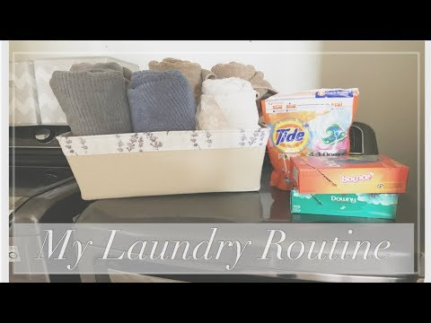 MY LAUNDRY ROUTINE 2018 (UPDATED) Plus!! How to store your towels with no linen closet