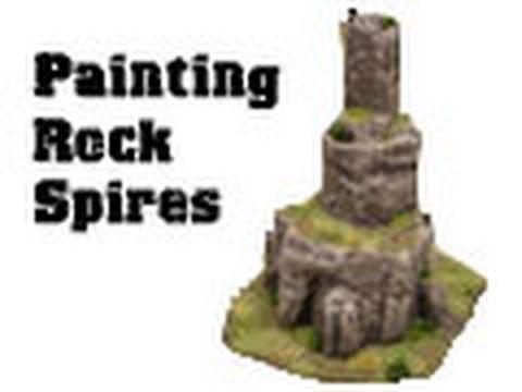 Painting a rock pillar terrain piece