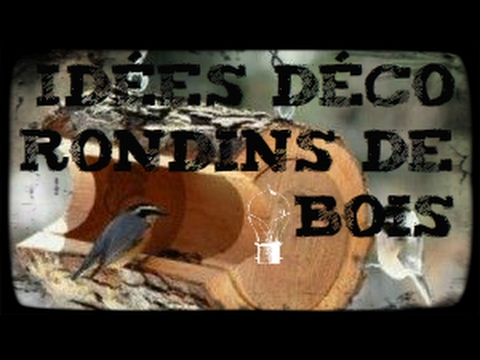 D corations avec des rondins de bois youtube for Bois de recuperation decoration