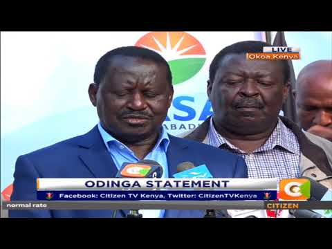 Odinga: I cannot disclose what was discussed in the United States