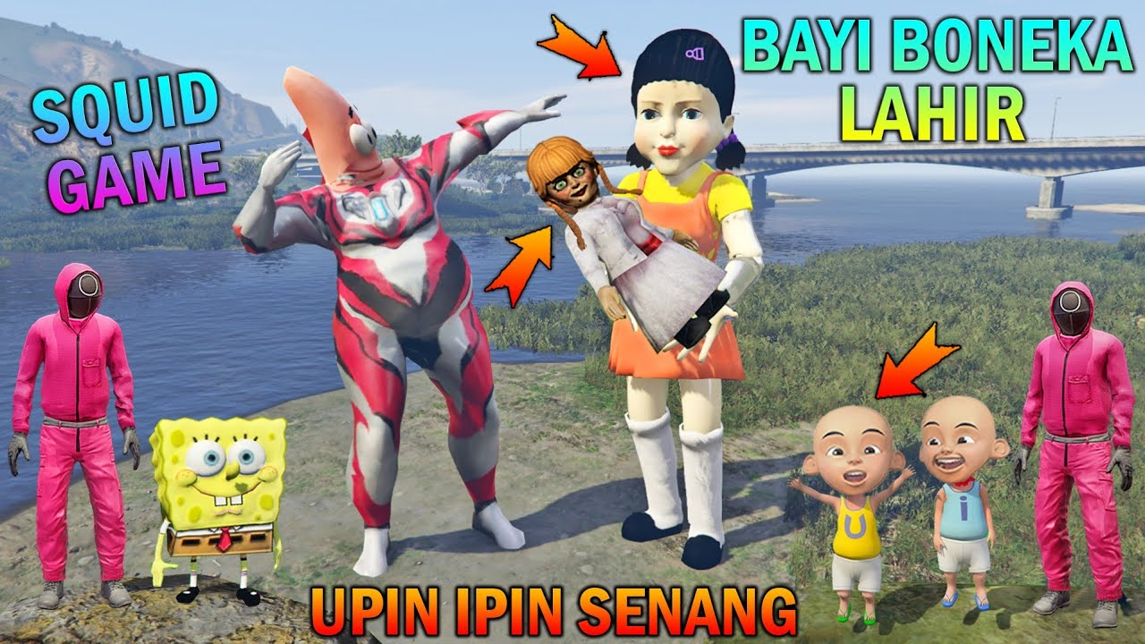 Download AKHIRNYA BAYI BONEKA SQUID GAME LAHIR, UPIN IPIN PATRICK SENANG - GTA 5 BOCIL SULTAN