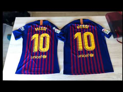 separation shoes 981df 3ea5f Barcelona jersey 2018-2019 original vs vapor vs stadium vs fake - Messi  version