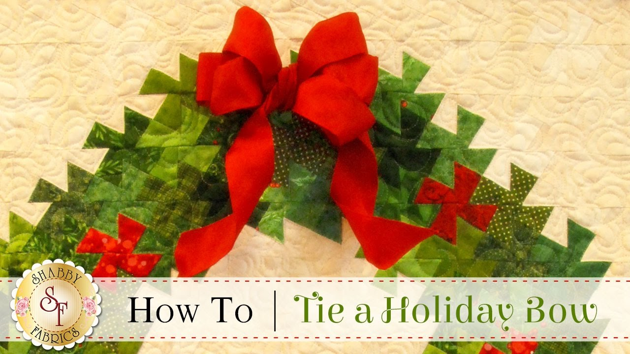 how to tie a christmas bow a shabby fabrics diy craft tutorial