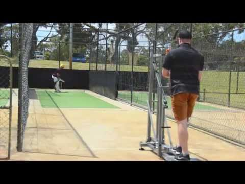 BAT130 Cricket Bowling Machine vs Calum How @ Subiaco Floreat Cricket Club, Western Australia