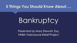 5 Things to Know About Bankruptcy