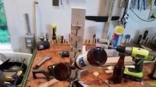 Beer bottle hanger, dryer, drainer thingy