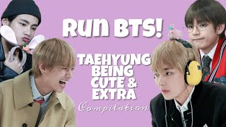 [RUN BTS 2018] taehyung being cute & extra compilation