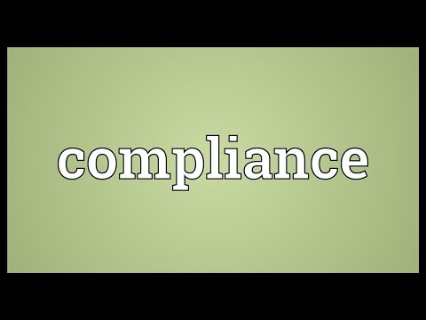 Compliance Meaning