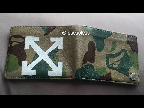 CUSTOM BAPE x OFF WHITE WALLET  ( 1k SUB GIVEAWAY NMDS !!!! )