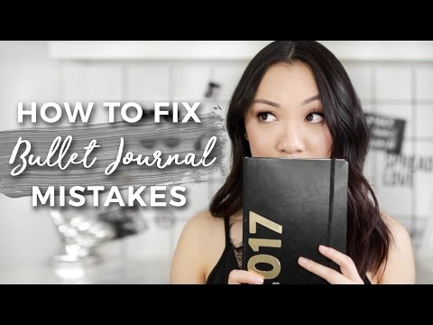 How To Fix Your Bullet Journal Mistakes! (7 WAYS)
