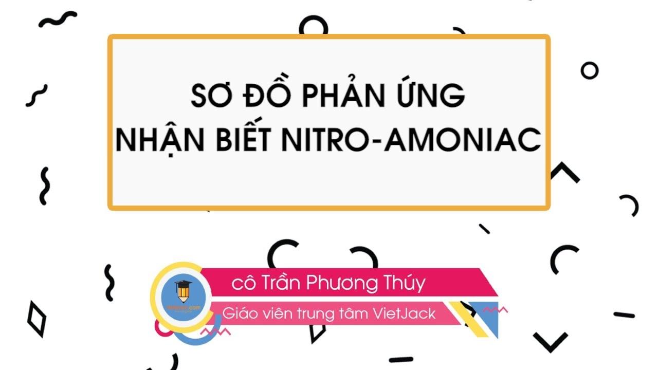 Sơ đồ phản ứng – Nhận biết Nito Amoniac – Hóa học 11 – cô Trần Phương Thúy – VietJack.com