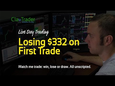 Live Day Trading - Losing $332 on First Trade