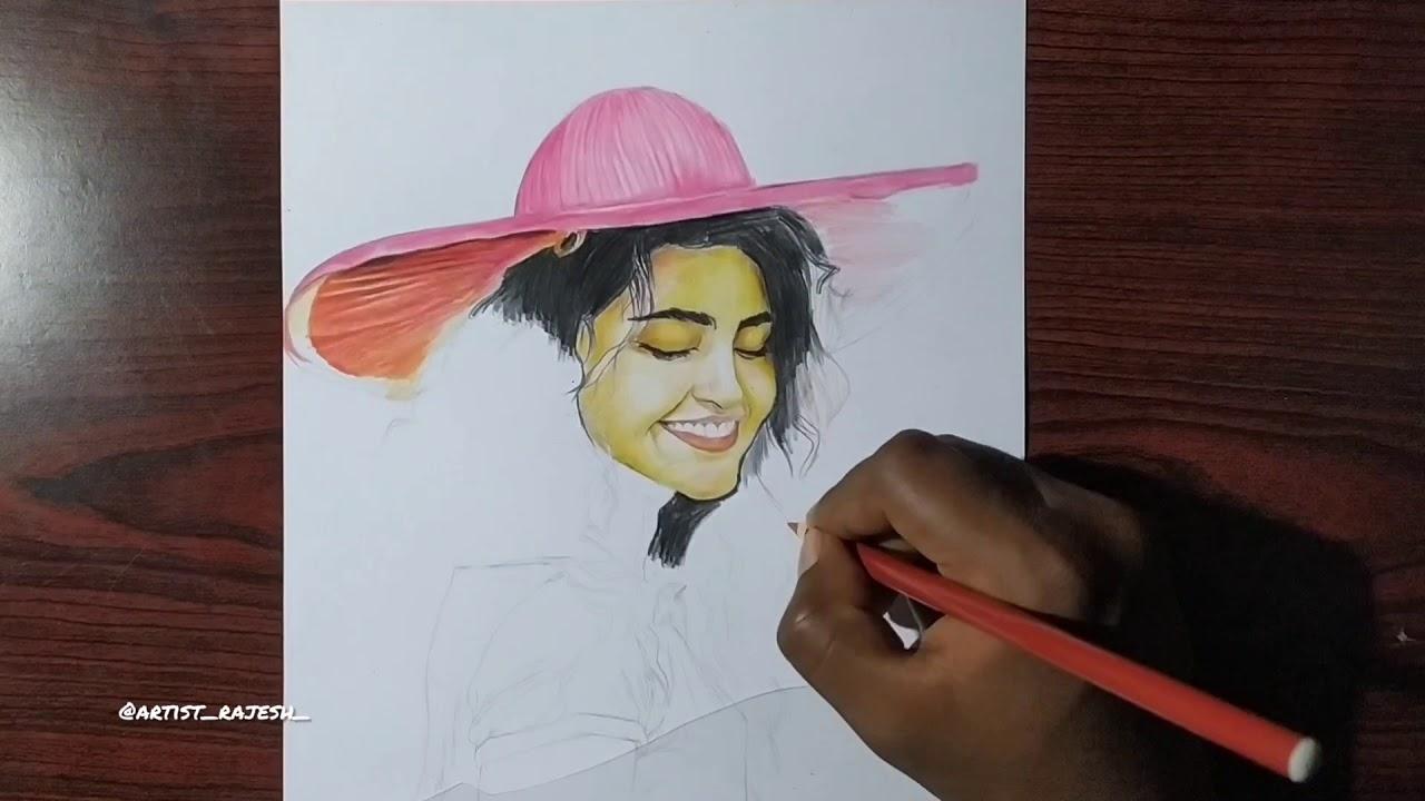 Art of beautiful ANUPAMA PARAMESHWARAN | Realistic Drawing ...