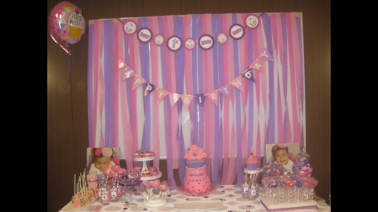 Annalees 1st Birthday Party Dessert Table Cupcake Theme