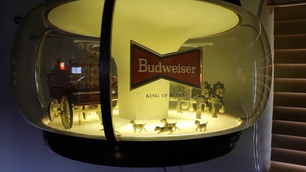 Revolving Budweiser Beer Sign With World Champion