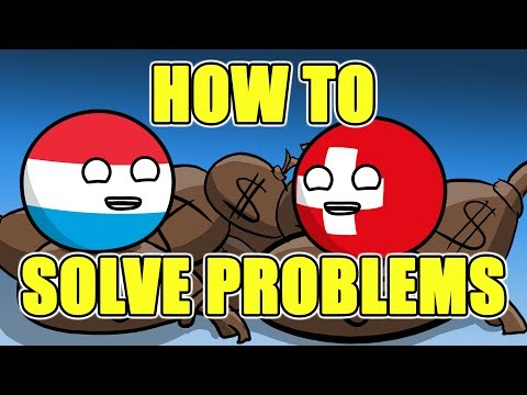Every country deals with their own problems - Countryballs