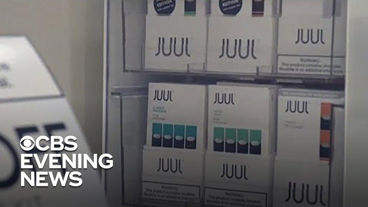 Juul halts US sales of popular mint-flavored e-cigarettes