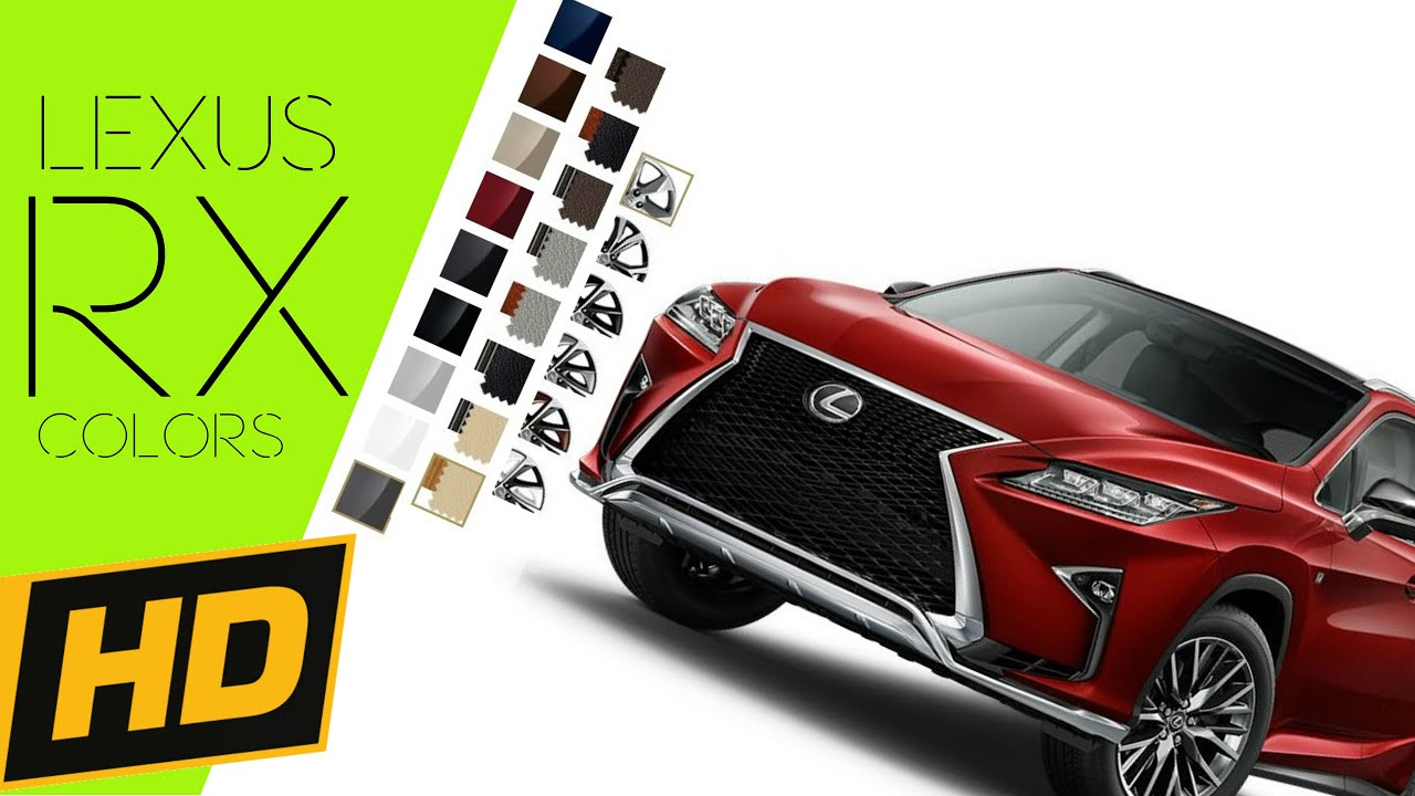 2016 Lexus RX 350 450 Hybrid COLORS