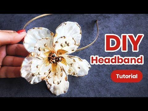DIY Headband. Hairstyle Accessory For Girls. Creative Idea thumbnail