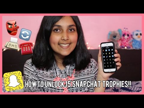 how to get the snapchat trophies