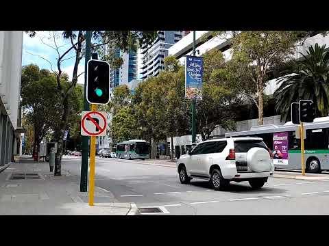 Leisure walk along Adelaide Terrace East Perth