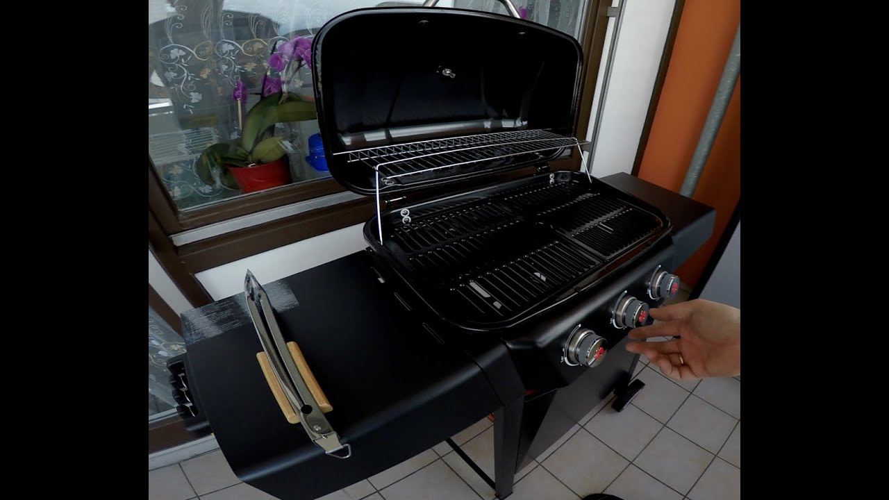 grillchef by landmann gasgrillwagen midas unboxing und test youtube. Black Bedroom Furniture Sets. Home Design Ideas