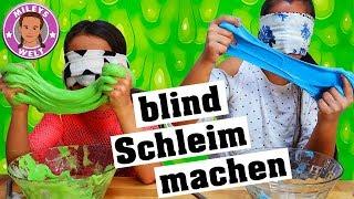 BLINDFOLDED SLIME Challenge - blind Schleim machen mit Bilou Schaum | Mileys Welt