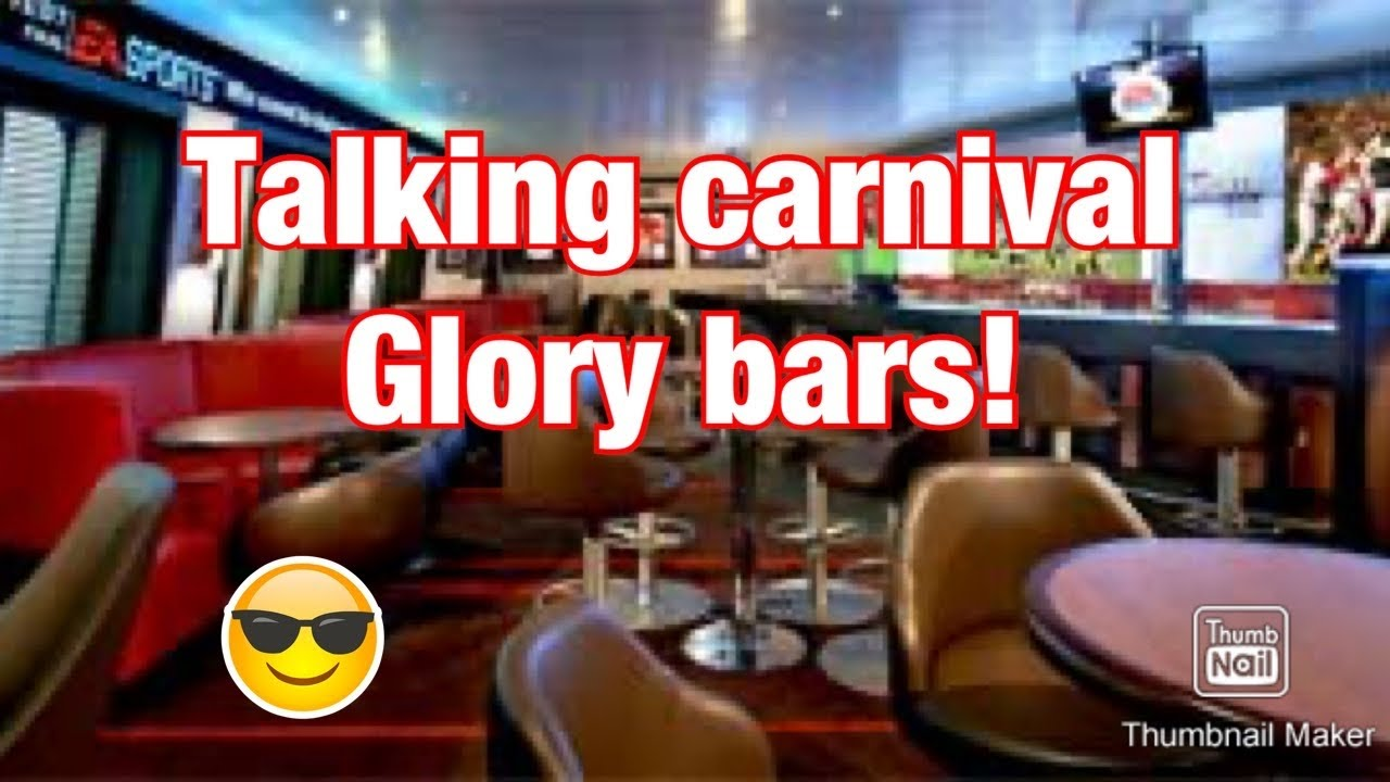 Bars on the Carnival Glory - YouTube