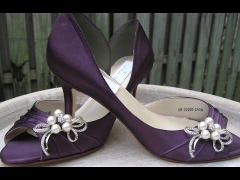 Eggplant Wedding Shoes - YouTube