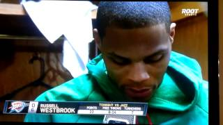Russel Westbrook butthurt after jazz game 02-12-13
