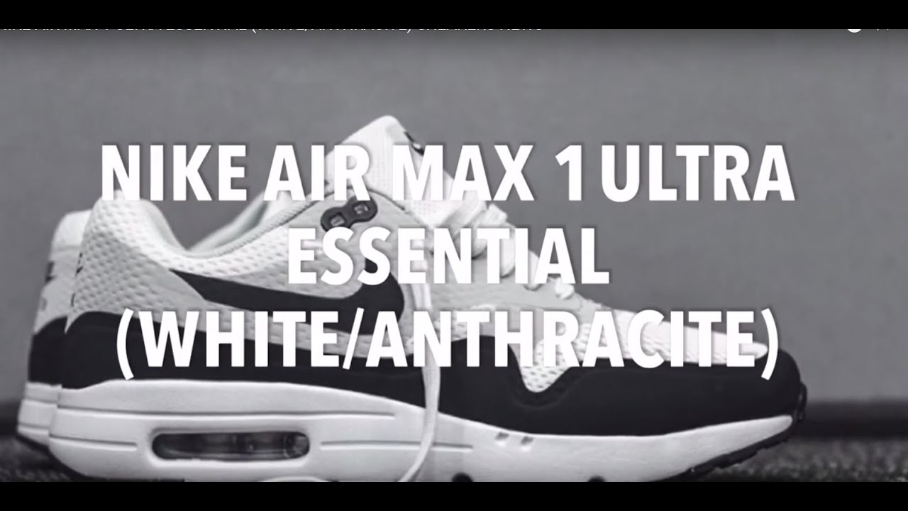 nike air max 1 ultra essential white anthracite