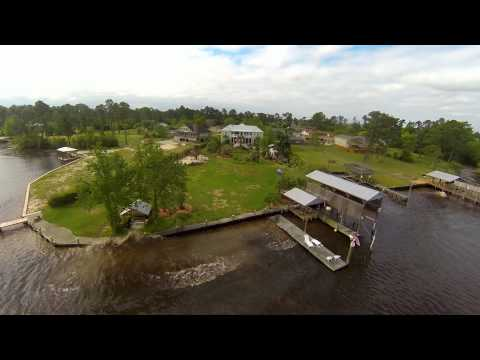 GoPro3: Drone Flight of Barge Launch at Gulf Coast Shipyard Group
