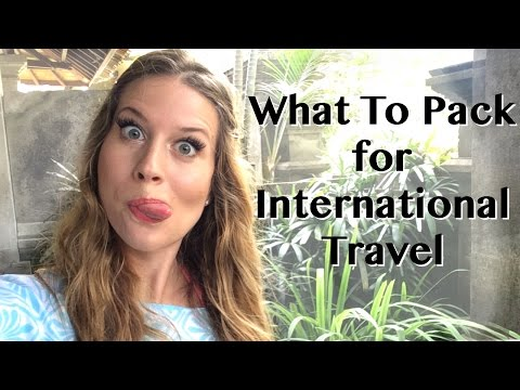 Must Haves to Pack for International Travel -- Travel Tip
