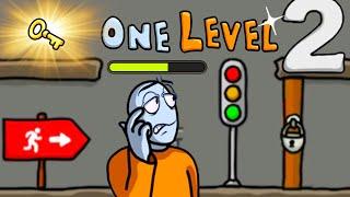 Что-то НЕ ТАК в ЭТОЙ ТЮРЬМЕ! Побег СТИКМЕНА из ТЮРЬМЫ #7 Игра One LEVEL 2 от Cool GAMES