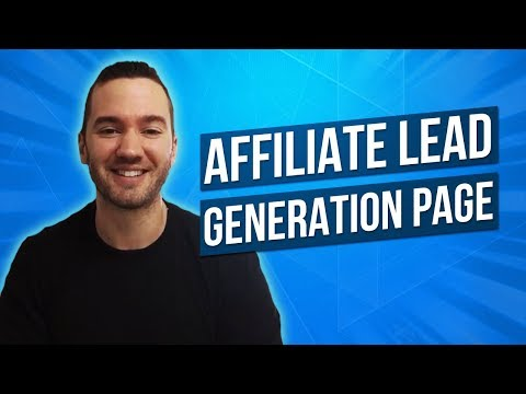 Affiliate Marketing Lead Generation Page 💻 High Converting