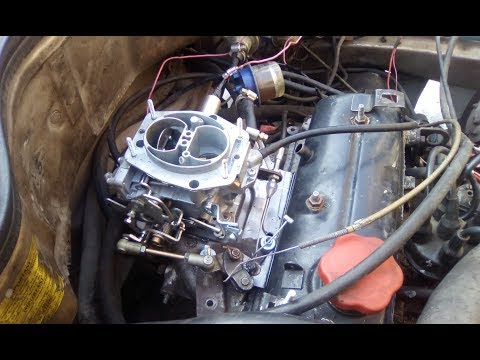 Renault 11.  Карбюратор от ВАЗ 2108