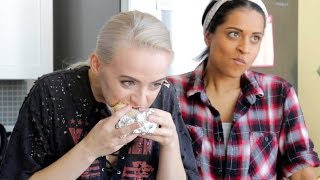 CHIPOTLE CHALLENGE // Lilly Singh & Madilyn Bailey
