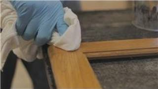 Cabinets 101 : How to Repair a Scratch on a Stained Wood Kitchen Cabinet