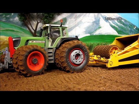Rc Tractor With Land Scraper Rc Toy Action Youtube