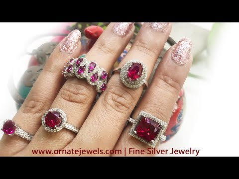 925 Sterling Silver Ruby Rings Collection At Ornate Jewels