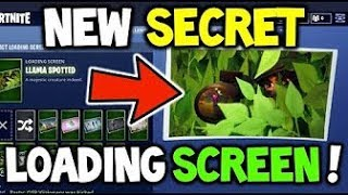 How to get the *NEW* loading screen ''Llama spotted'' | Fortnite Battle Royale season 4