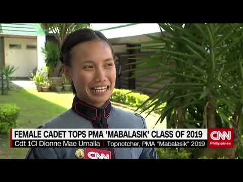 Female cadet tops PMA 'Mabalasak' class of 2019