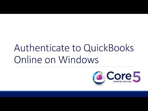 Core5 Starter Edition: Authenticate to QuickBooks Online on