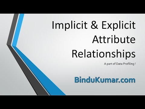 Implicit & Explicit Attribute Relationships