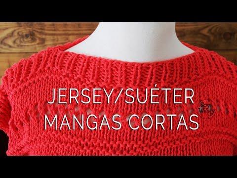 Jersey su ter a medida f cil y r pido dos agujas youtube - Como hacer un jersey de punto ...
