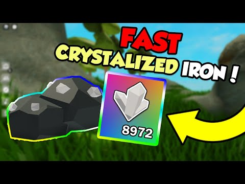 How To Get Crystallized Iron Fast In ROBLOX Sky Block!