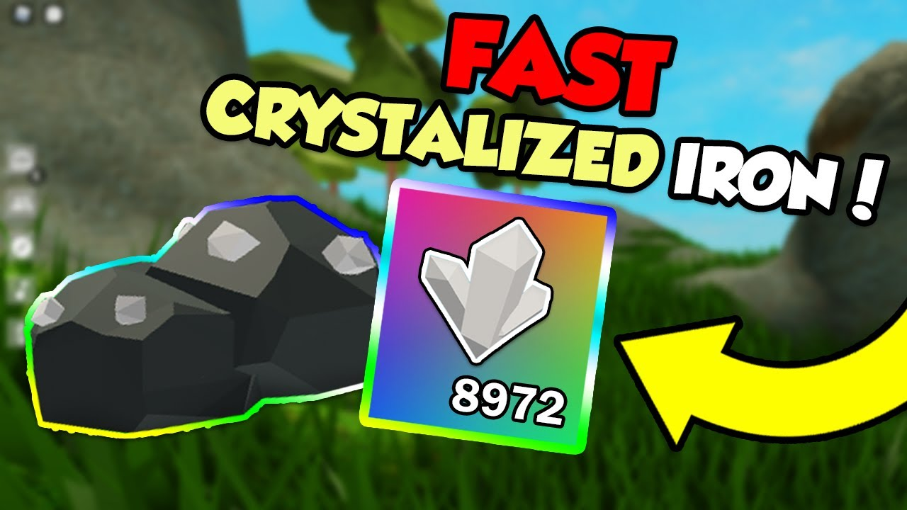 How To Get Crystallized Iron Fast In Roblox Sky Block Youtube