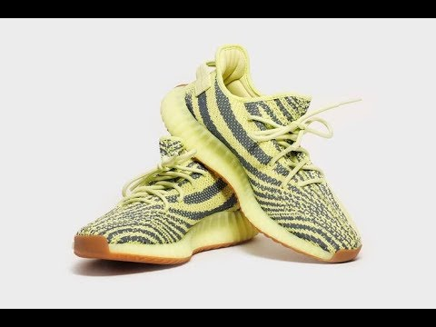 062ea5000 Yeezy Boost 350 v2 (Fake) Semi Frozen Yellow Unbox   Review - YouTube