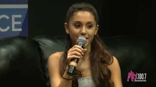 Ariana Grande LIVE Chat Session at MIX 100.7