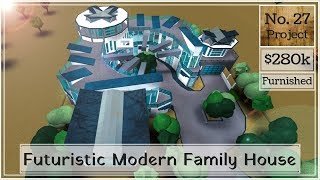Roblox | BLOXBURG: Futuristic Modern Family House (Speed Build) (NO Large Plot)